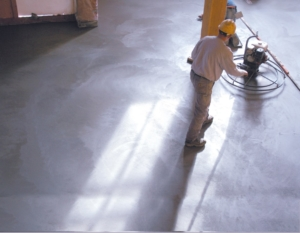 Drying concrete floor during loft construction urban development ** Note: Slight graininess, best at smaller sizes